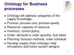 ontology for business processes