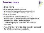 solution basis