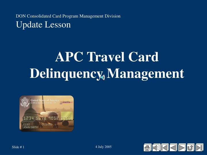 apc travel card delinquency management n.