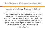 edward bernstein evolutionary socialism 1899