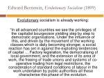 edward bernstein evolutionary socialism 18993