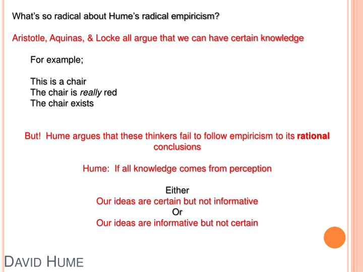 Ppt Lecture 14 Humes Radical Empiricism Powerpoint Presentation