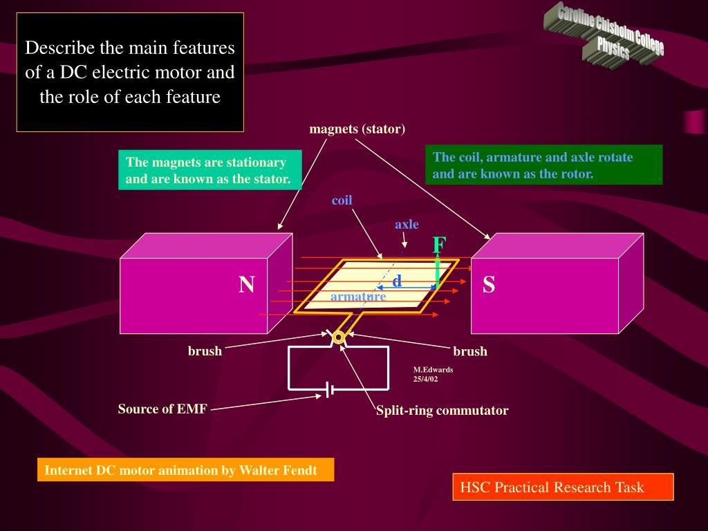 PPT - D C  ELECTRIC MOTORS PowerPoint Presentation - ID:1354208