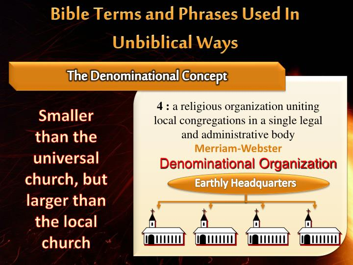 Bible Terms and Phrases Used In Unbiblical Ways