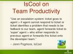 iscool on team productivity