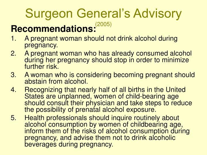 Surgeon General's Advisory