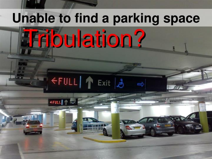 Unable to find a parking space