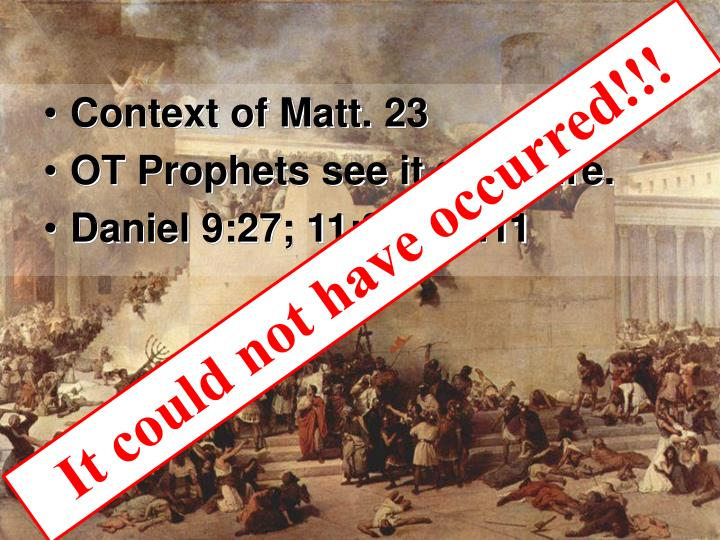 Context of Matt. 23