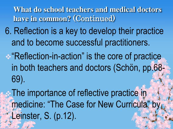 the importance of reflective practice How can the answer be improved.