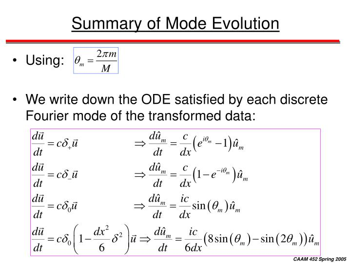 Summary of Mode Evolution