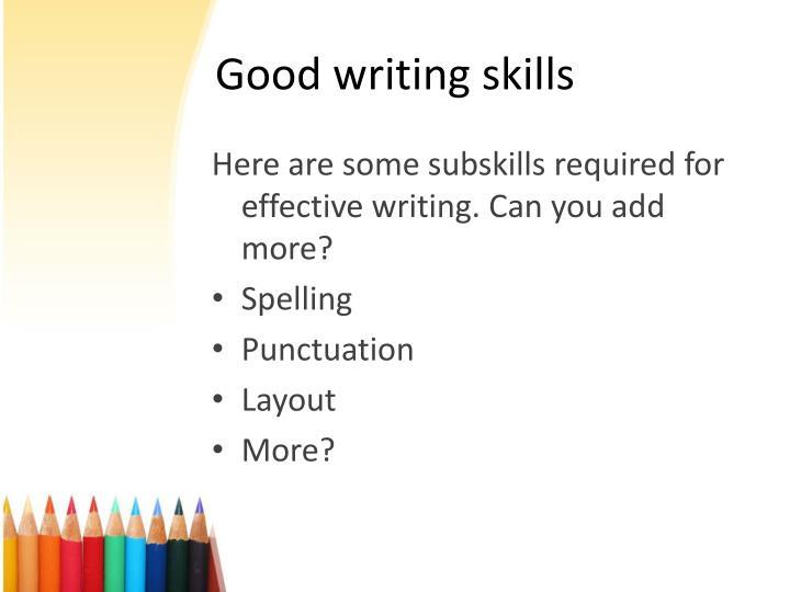 better writing skills