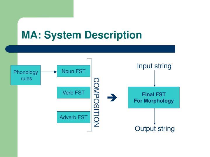 MA: System Description