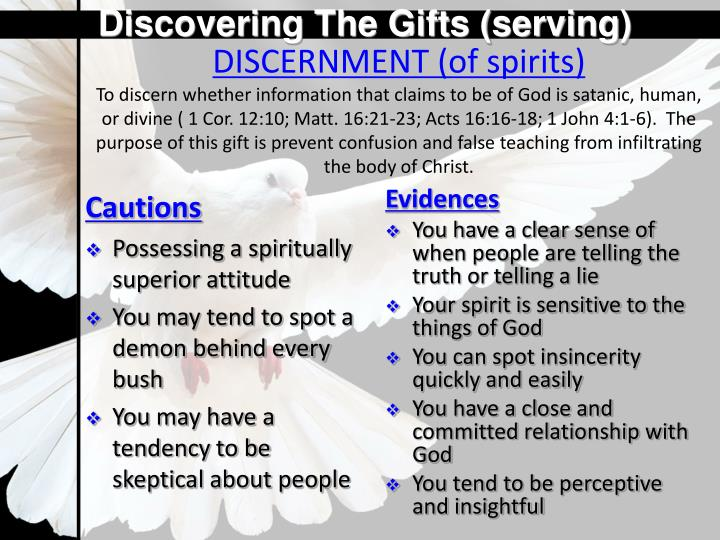 Discovering The Gifts (serving)