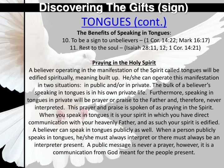 Discovering The Gifts (sign)