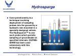 hydrosparge