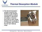thermal desorption module