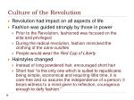 culture of the revolution