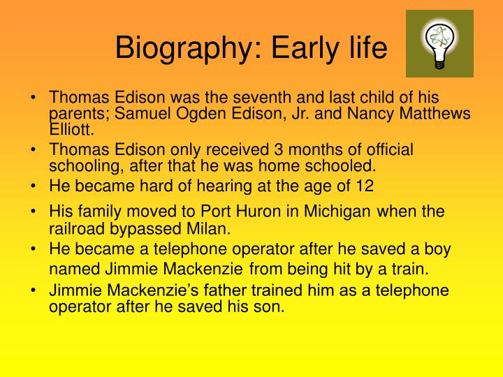 Biography early life