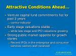 attractive conditions ahead