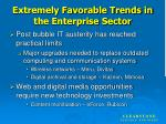 extremely favorable trends in the enterprise sector