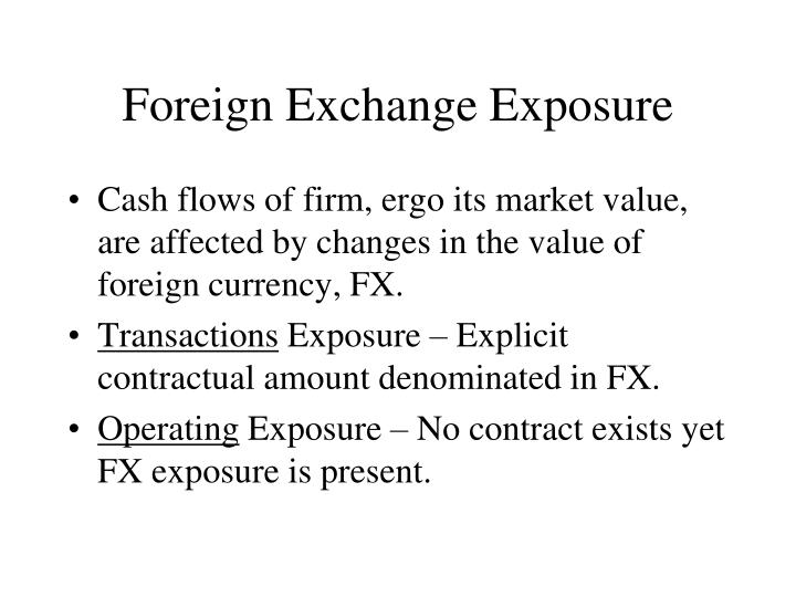 foreign exchange exposure n.