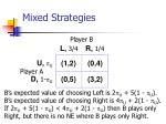 mixed strategies70