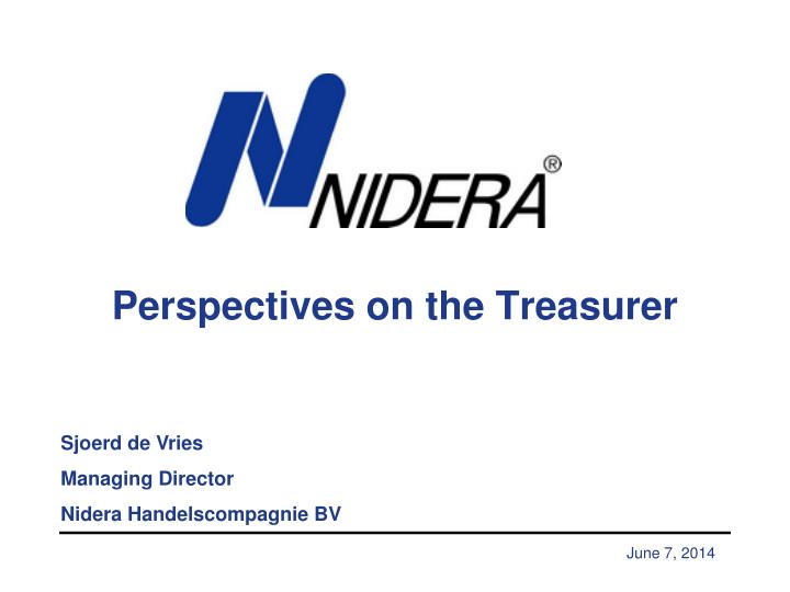 perspectives on the treasurer n.