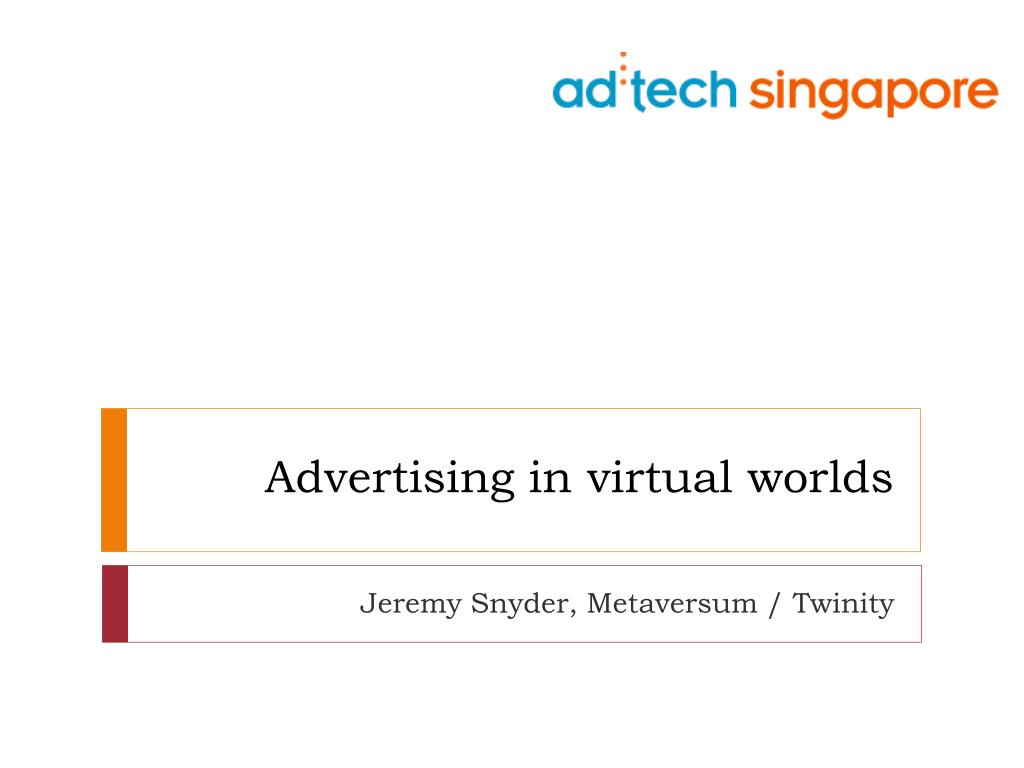 Advertising in virtual worlds