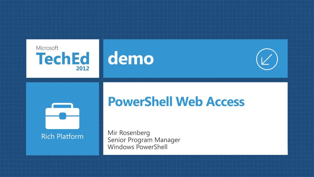 PPT - Advanced Automation Using Windows PowerShell 3 0 WSV414