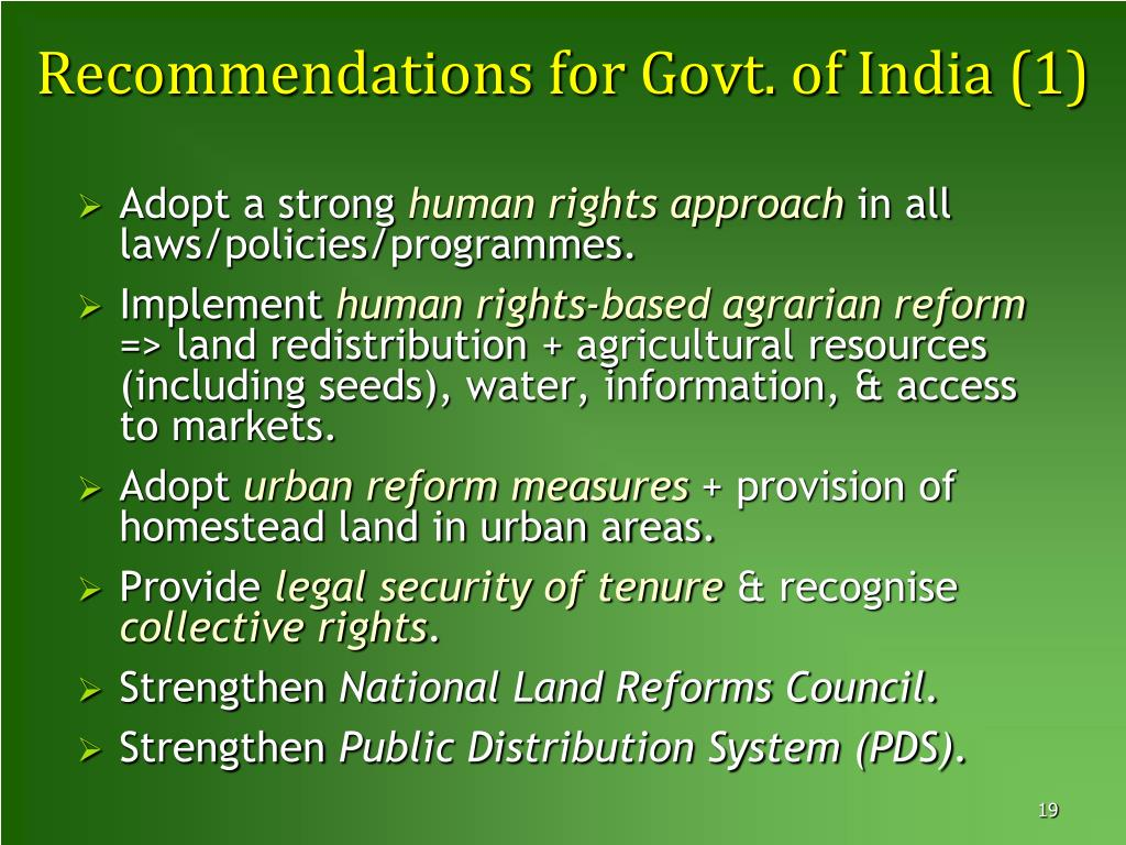 PPT - Land Grabbing in India and the Movement for Food
