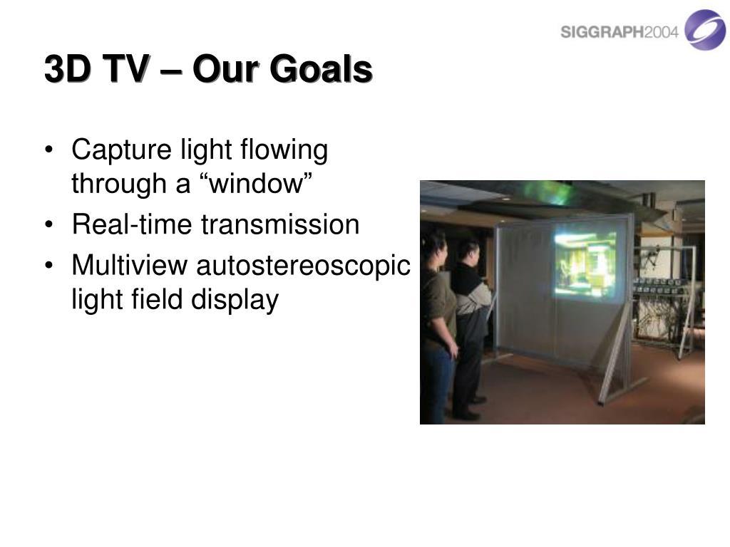 3D TV – Our Goals