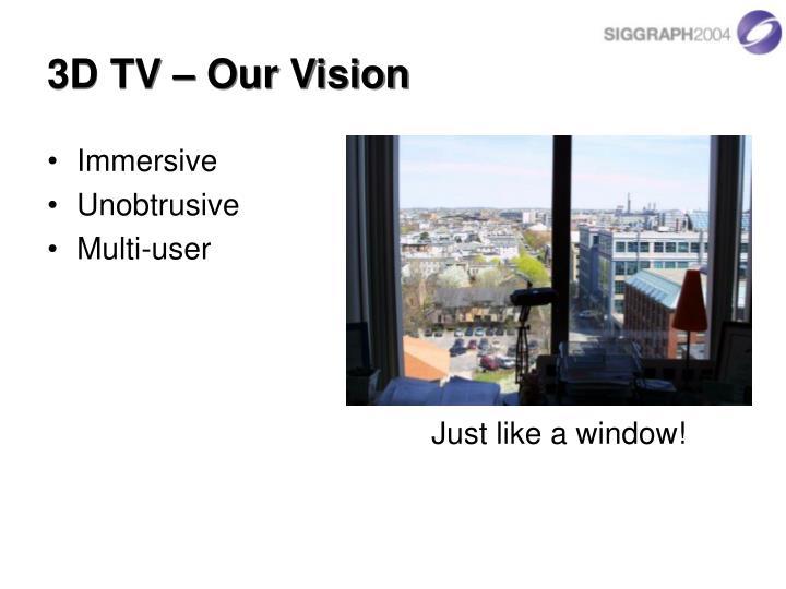 3d tv our vision