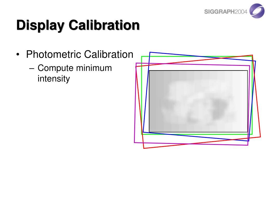 Display Calibration