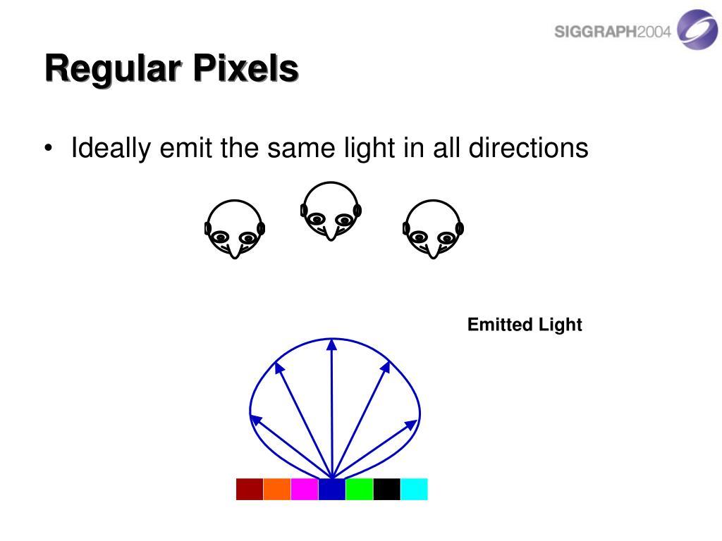 Regular Pixels