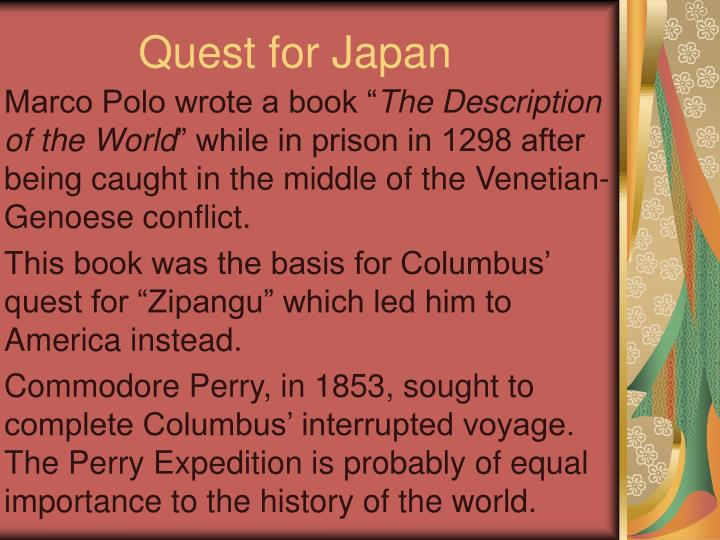 quest for japan n.
