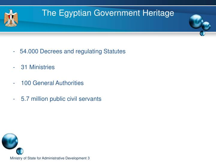 The egyptian government heritage