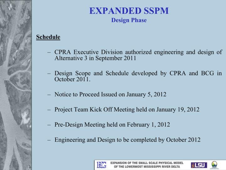 EXPANDED SSPM