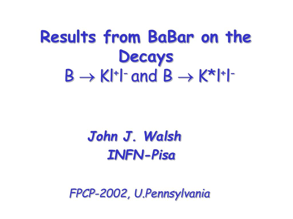 results from babar on the decays b kl l and b k l l l.