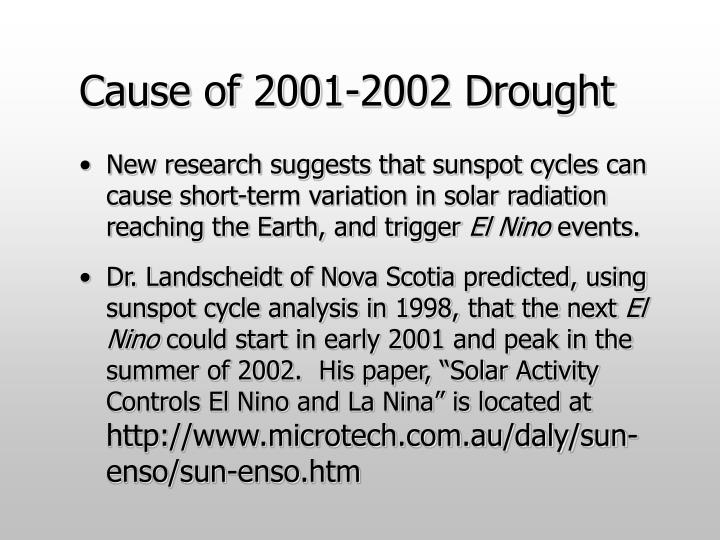 Cause of 2001-2002 Drought