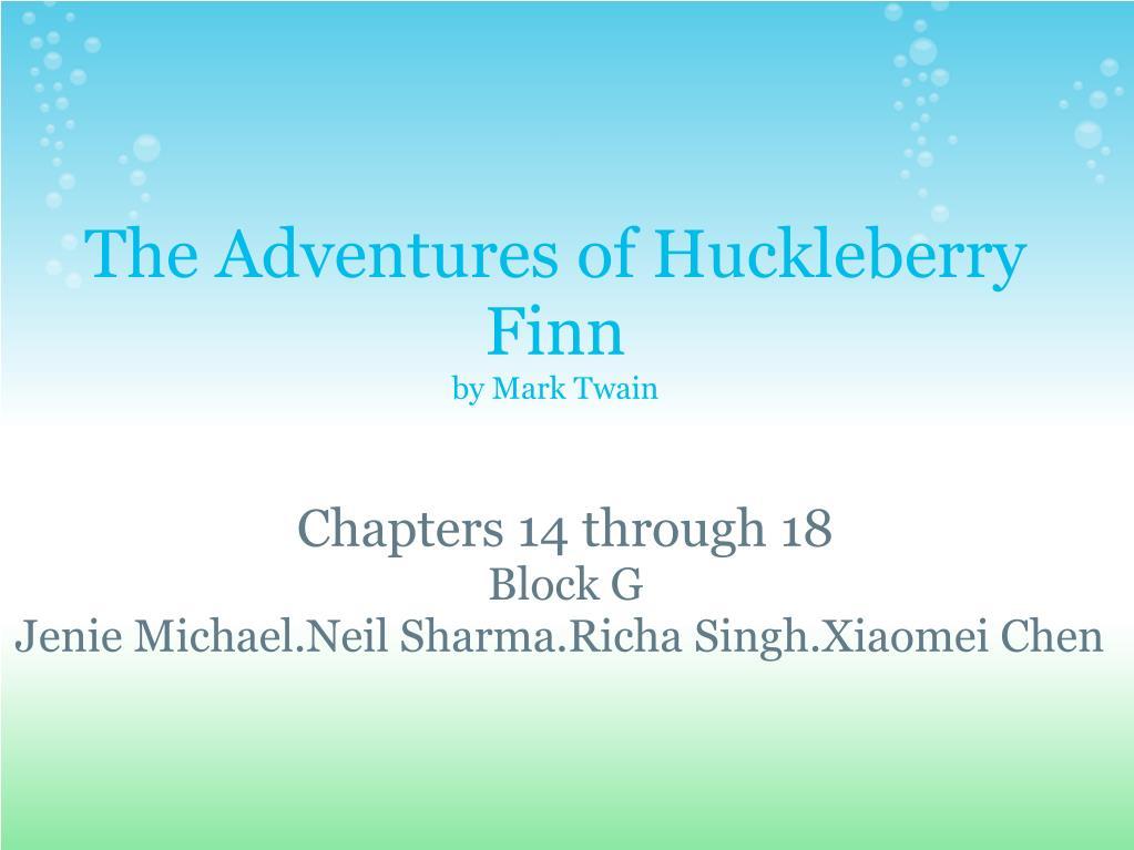 adventures of huckleberry finn chapter 14