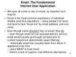 email the fundamental internet user application