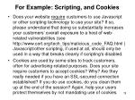 for example scripting and cookies