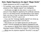 note digital signatures are not a magic bullet