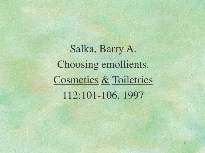 Salka, Barry A.