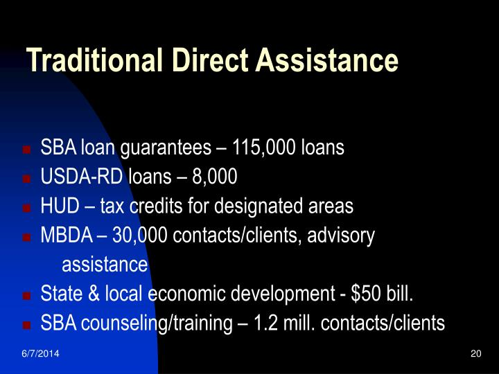 Traditional Direct Assistance