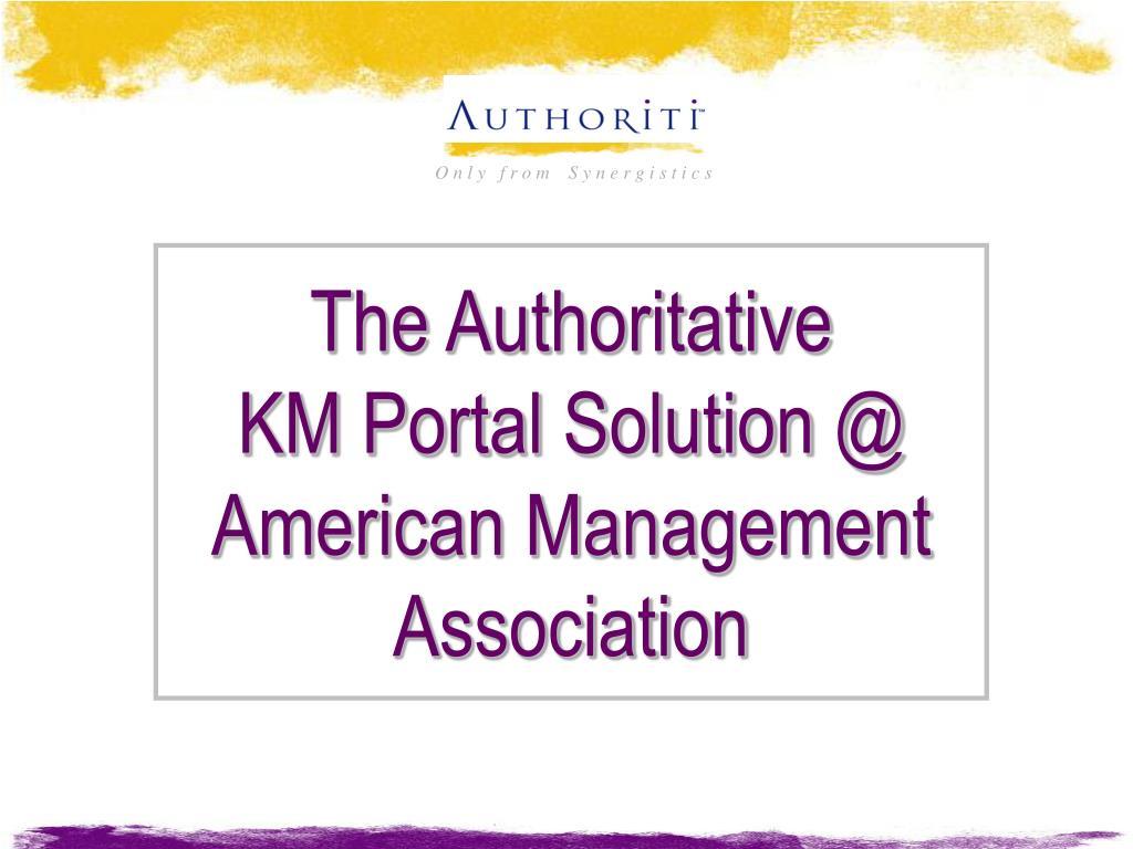 The Authoritative