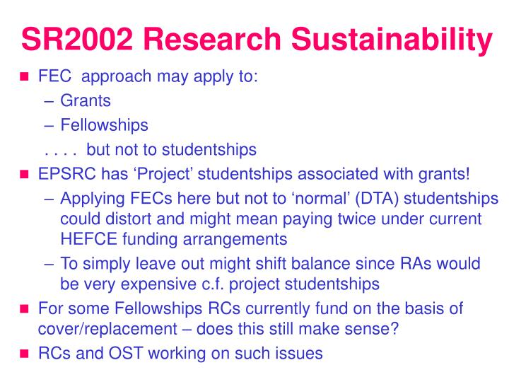 SR2002 Research Sustainability