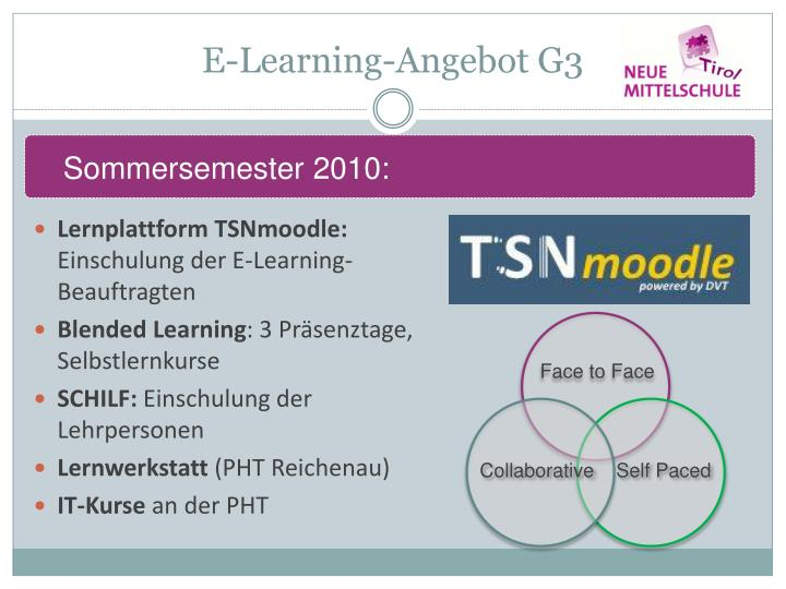 E-Learning-Angebot G3