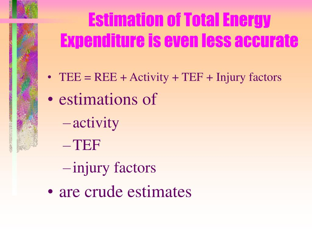 Estimation of Total Energy Expenditure is even less accurate
