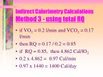 indirect calorimetry calculations method 3 using total rq